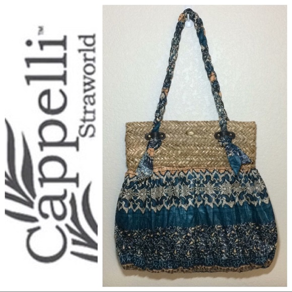 b83e53445835 ☀️NWOT Cappelli Straworld Boho straw shoulder bag